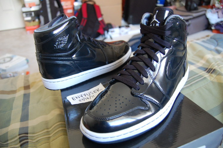 f7605a4128b Rare Air  Air Jordan 1 Retro Black Patent Leather Sample - Air 23 ...