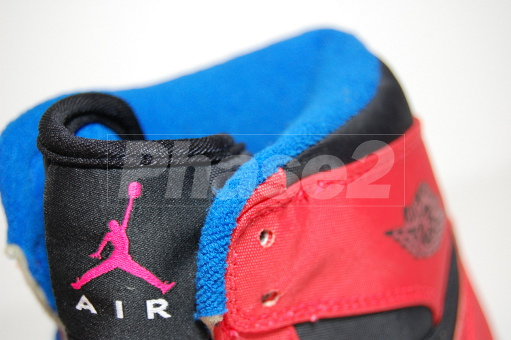 Rare Air - Air Jordan I Retro High Black Max Orange-True Blue Sample 076f6a40b