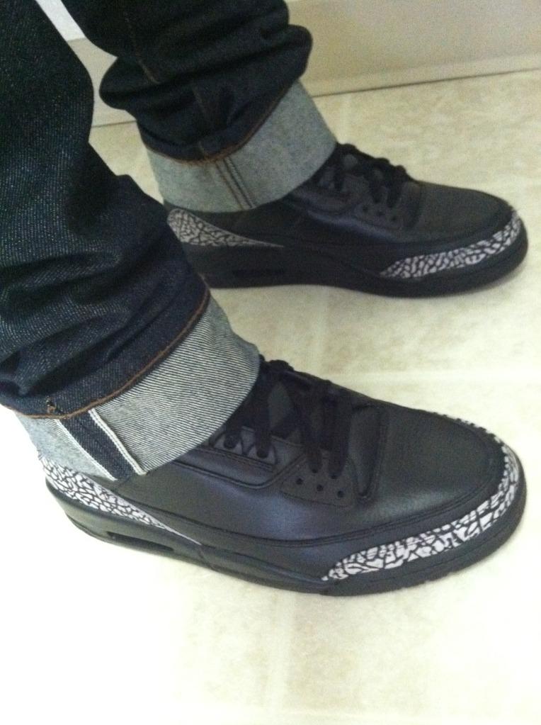 100% authentic b2e00 728c7 Nike Air Jordan 3 Black Cement Retro III OG 854262 001