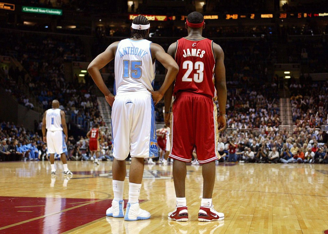 first rate ab748 8cb44 During his his rookie year in the 2003-04 NBA season, Carmelo wore the Air  Jordan XII, customized with  Melo  embroidered on the side.