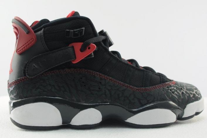 c20dd48cf102 Jordan 6 Rings Color  Black White Gym Red-Anthracite Style  323419-020.  Release  11 30 2013. Air Jordan 6 Rings Bred ...