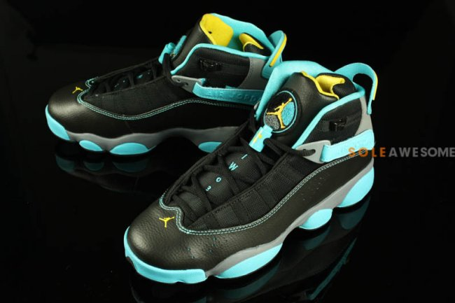 dd5e5b000527e9 Jordan 6 Rings Color  Black Varsity Maize-Cool Grey-Gamma Blue Style   323419-089. Release  12 07 2013