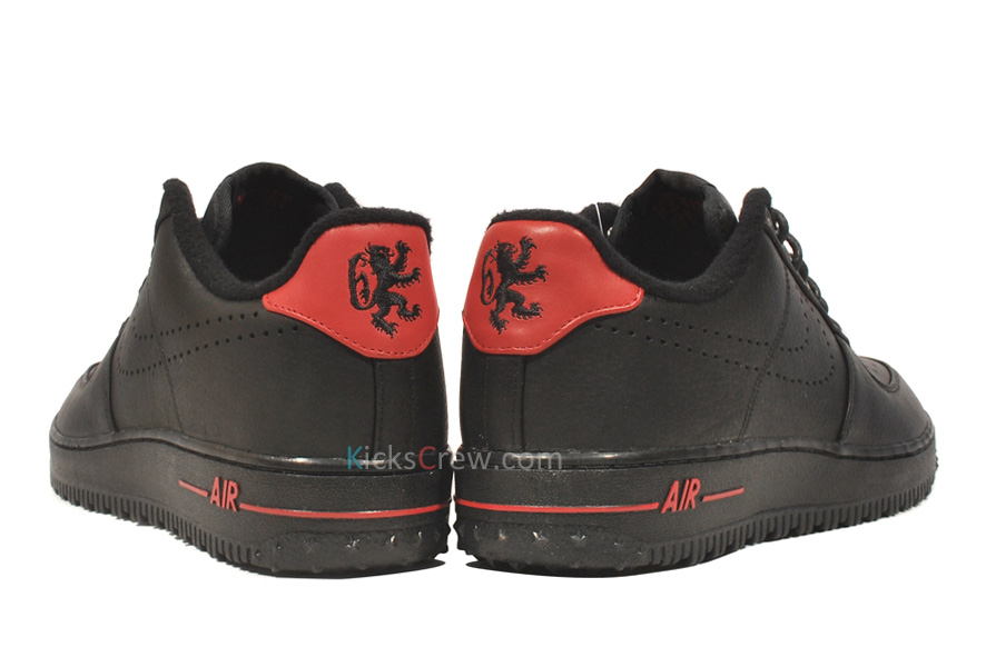 872f9a80eed Nike Air Force 1 Premium Low QS LeBron - Black Red