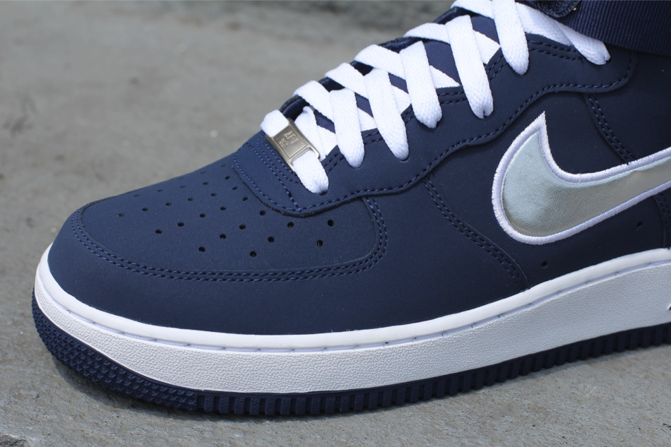 navy blue air force ones