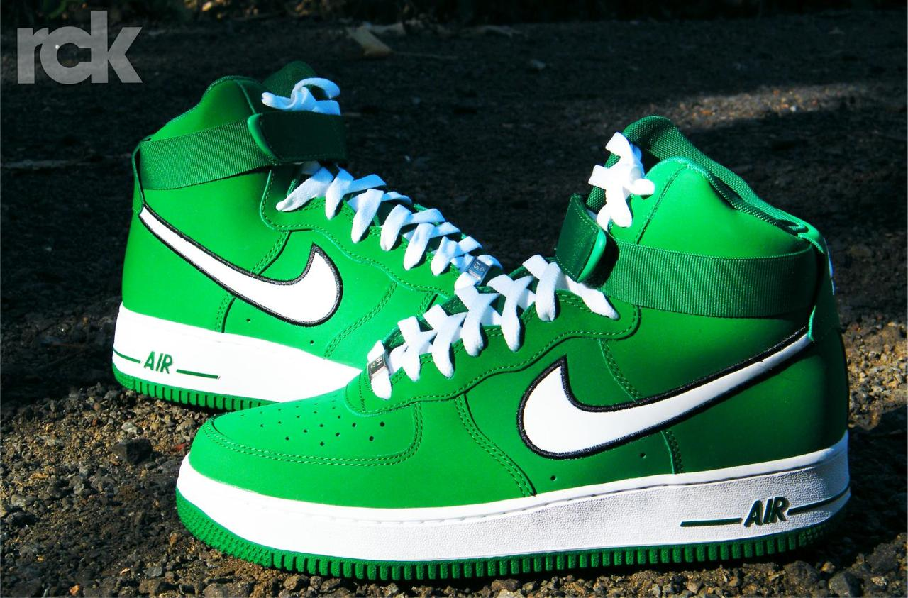 air force 1 super high to green Nike ...