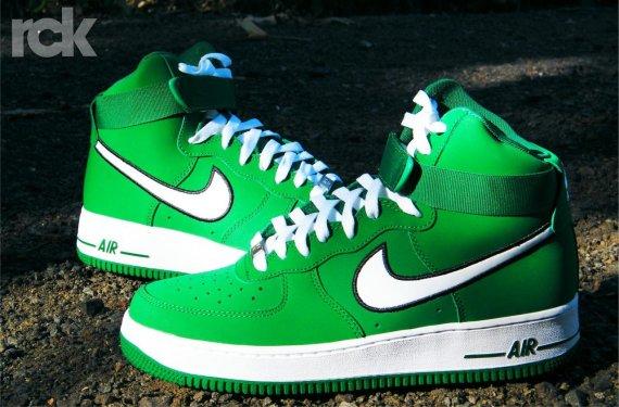 Men Nike Air Force 1 High 07 Pine Green White Shoes