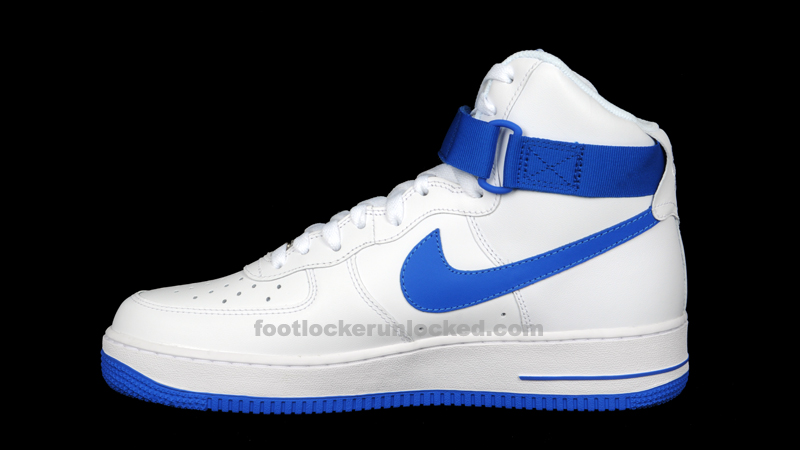 Nike Air Force 1 High Top Jordans Bleues Et Blanches 26zuD0Ic79