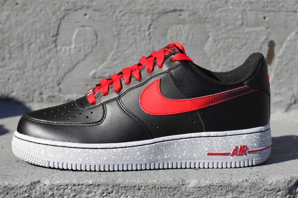 nike air force 1 low black challenge red. Black Bedroom Furniture Sets. Home Design Ideas