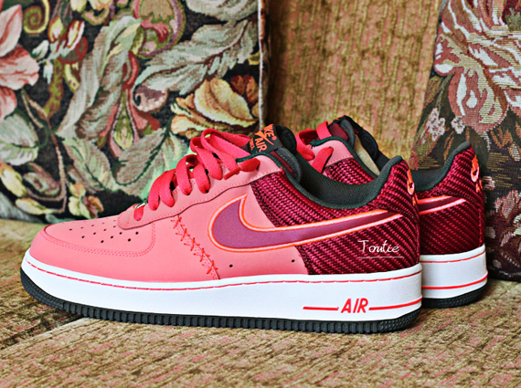 online store 7cf8e 352f8 Nike Air Force 1 Low – Peach Red Carbon Fiber