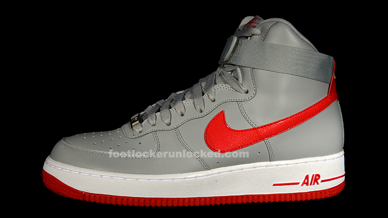 Nike Air Force 1 Low - Wolf GreyHyper Red   Shoe game