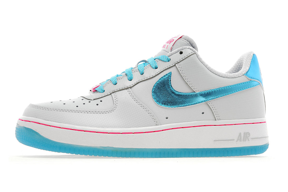 Nike Air Force 1 Low Junior Pure Platinum / Gamma Blue-White