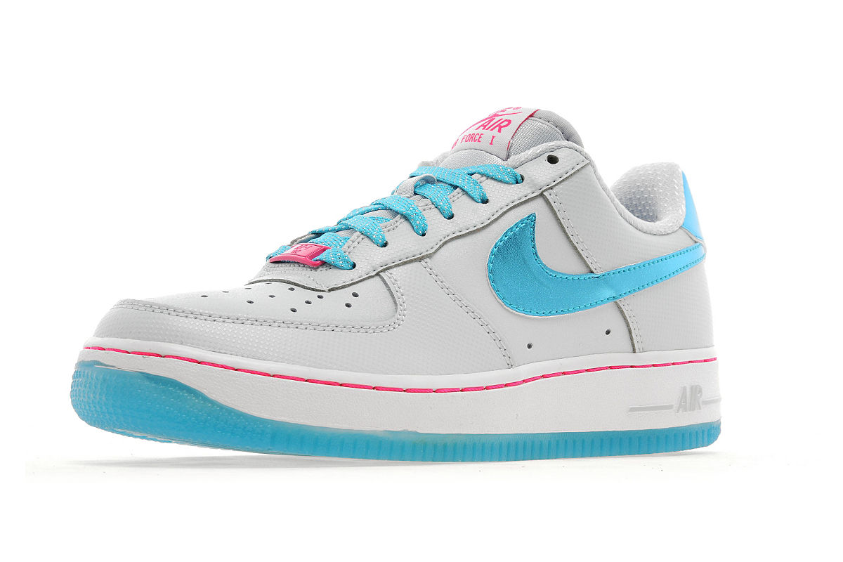 nike air force 1 low junior pure platinum gamma blue white. Black Bedroom Furniture Sets. Home Design Ideas