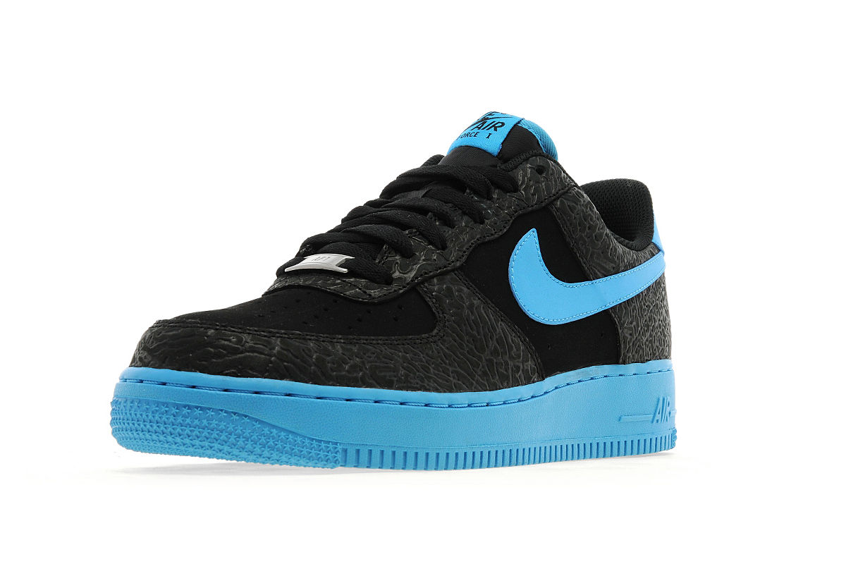 nike air force 1 low black vivid blue. Black Bedroom Furniture Sets. Home Design Ideas