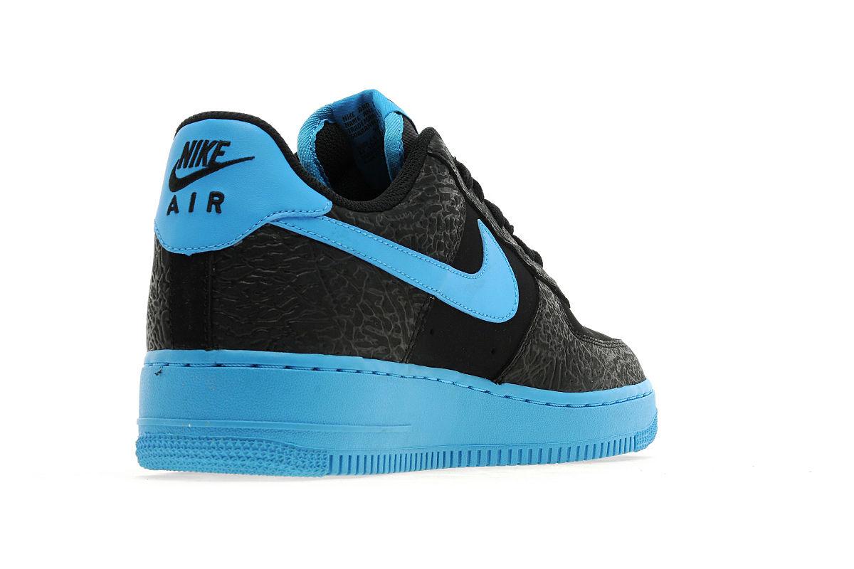 Nike Air Force 1 Low - Black/Vivid Blue