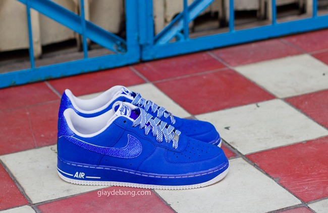 Air Force Blues Blue Suede Air Force Ones