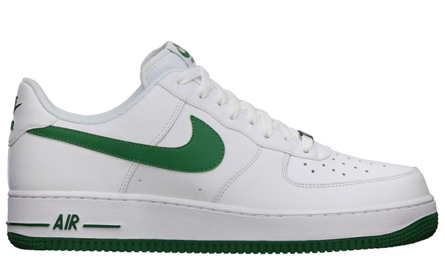 green and white air force ones