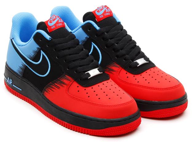 Nike Air Force 1 Low Color Light CrimsonBlackVivid Blue Style 488298615