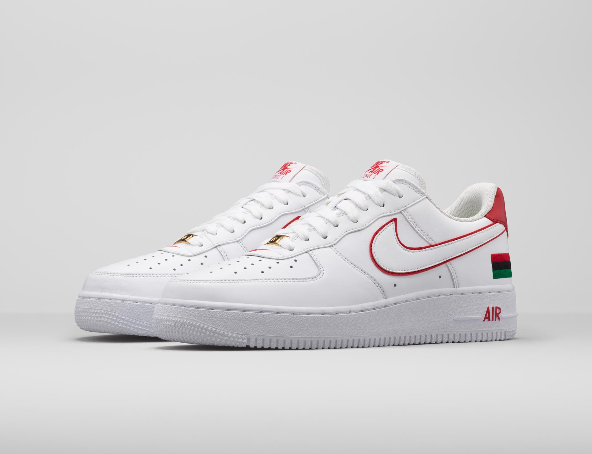Nike Air Force 1 Rétro Bhm Qs - Université Blanc Rouge Et Or