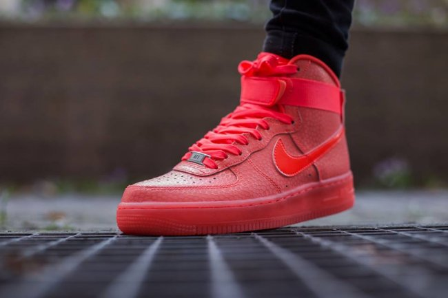 brand new 5e915 c1887 Nike Air Force 1 High Premium Color  Hot Lava Hot Lava Style  654440-800