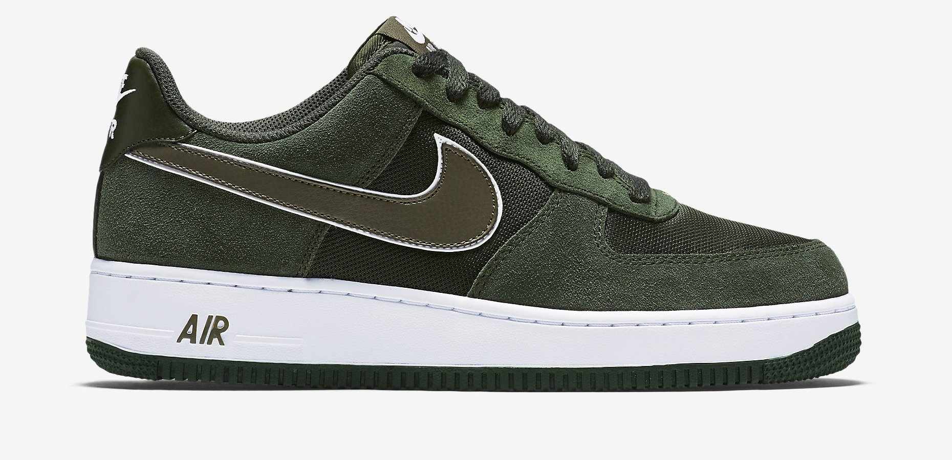 Nike Air Force 1 Low Color: Carbon Green/White-Medium Olive Style:  488298-316