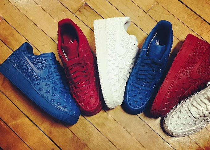 best loved b08ed c1476 Nike Air Force 1  07 LV8 4th of July Independence Day Red Navy Gold  823511-601