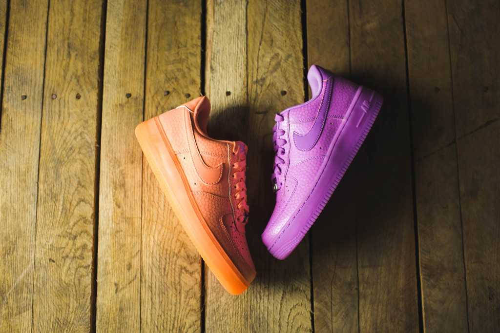 d35ee5a7cc92f Nike Women s Air Force 1  07 Premium - Sunset Glow and Fuchsia Glow ...