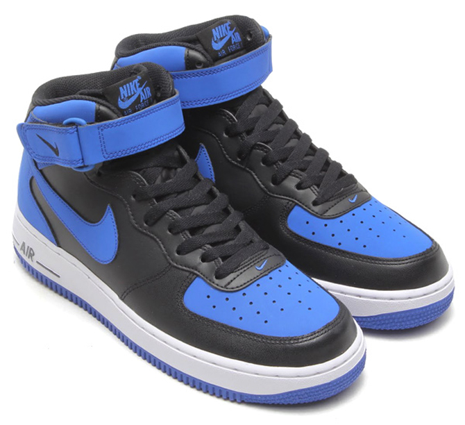 Nike Air Force 1 Mid Black Game Royal White Air 23 Air