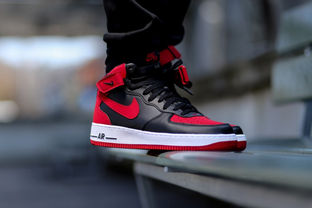 "the best attitude 6a085 b4c65 Nike Air Force 1 Mid ""Bred"""
