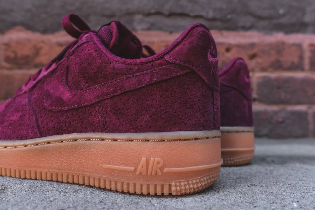 bbc4ea852814 ... Nike Womens Air Force 1 AF1 Low DEEP GARNET SUEDE BURGUNDY GUM  749263-600 sz . ...