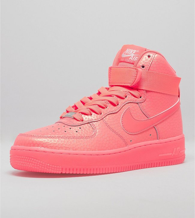 Nike Women's Air Force 1 High Premium Color: Hot Lava/Hot Lava Style:  654440-800. Price: $110.00