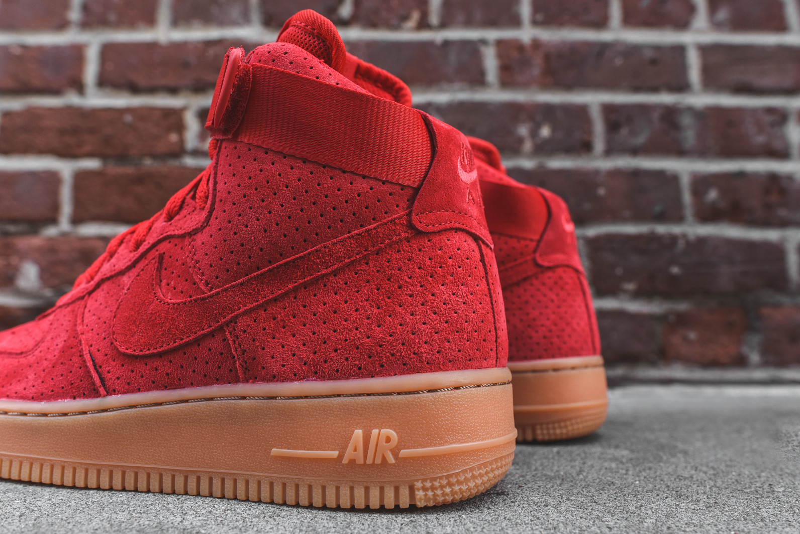 Nike Womens Air Force 1 Hi University Red   Gum - Air 23 - Air ... 8864c25744