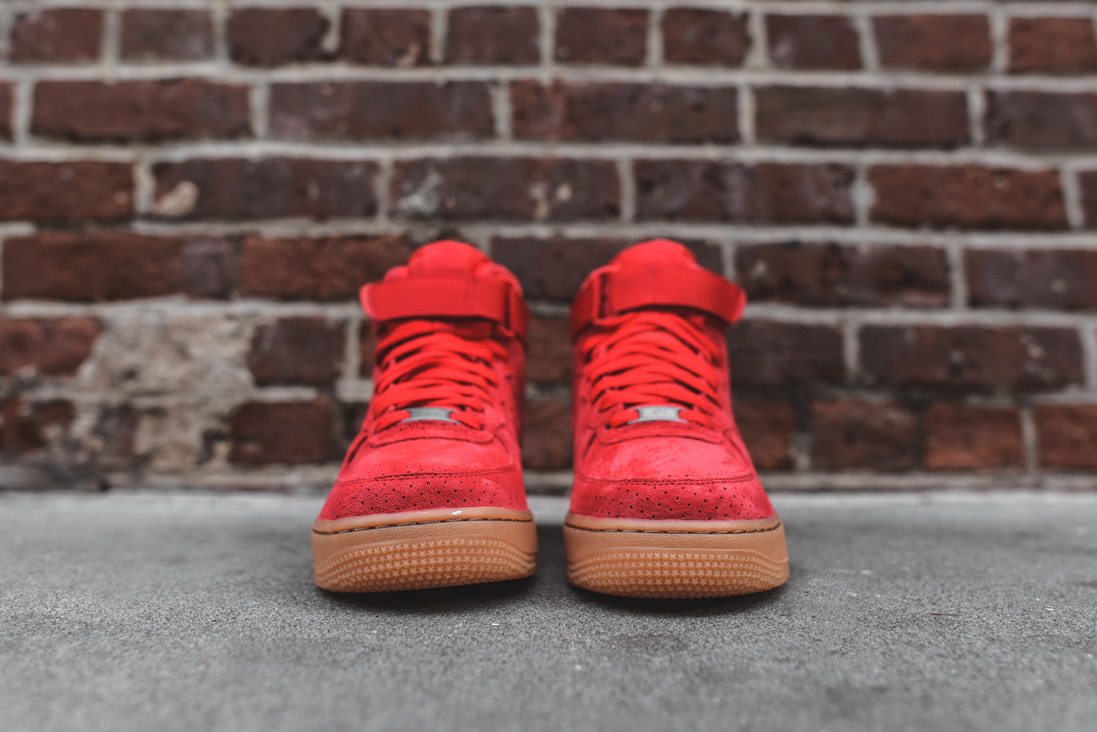 nike wmns air force 1 hi suede red 5s