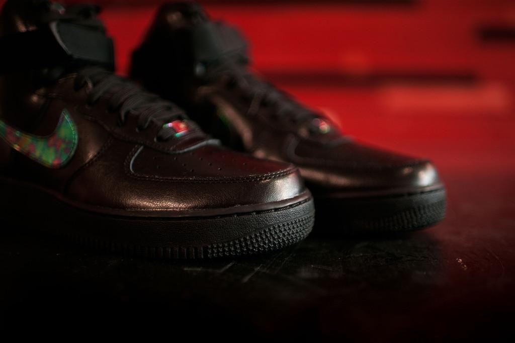 Nike Men's Air Force 1 High 07 LV8 Sport, BlackMetallic Gold White, 8 M US