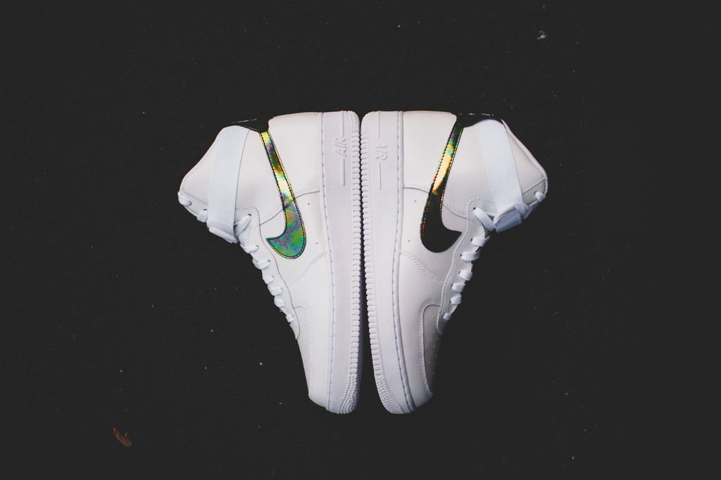 Nike Air Force 1 High 07 Lv8 White Metallic Gold White Air 23