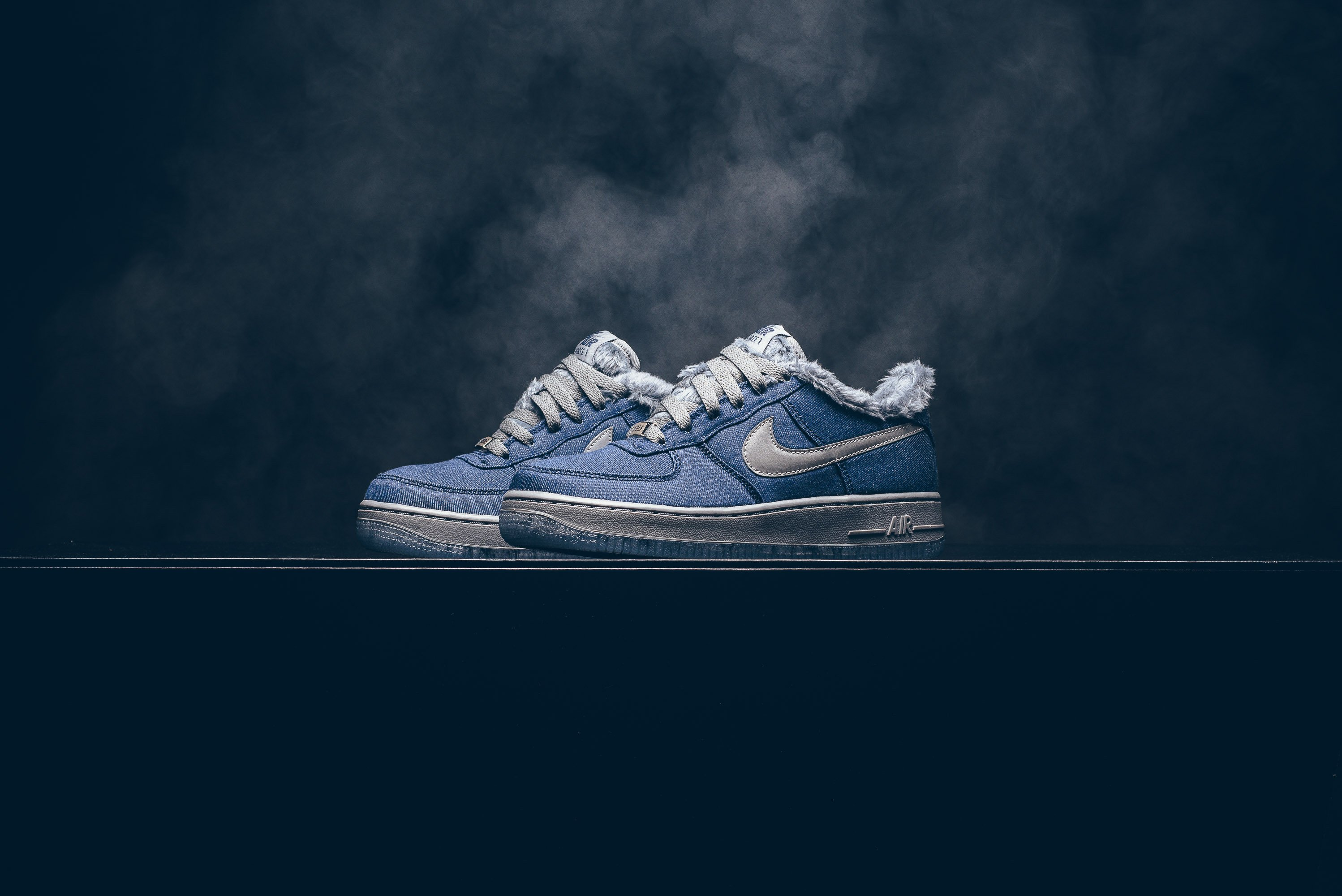 87b8636639b2e Nike Air Force 1 Pinnacle QS Color  AJ4234-400. Style Code  Blue Void Cool  Grey-Metallic Silver