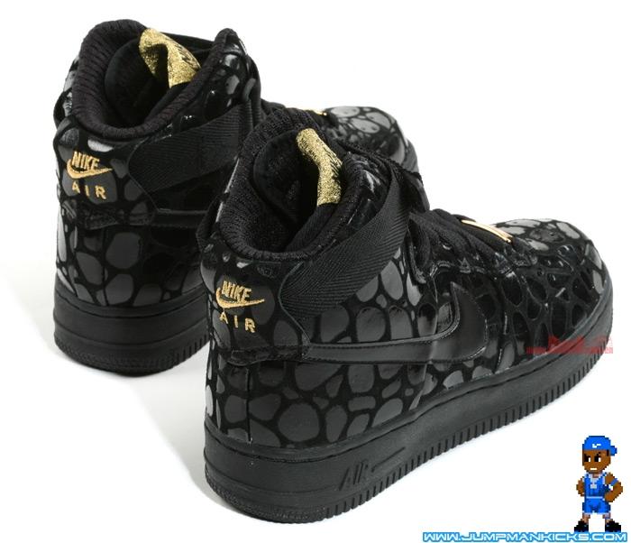Nike Air Force 1 High Supreme LE Womens Black Metallic Gold - Air 23 ... 6471a794e1