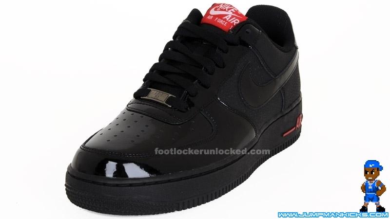 Nike Air Force 1 07 Low Black Black Varsity Red Air 23 Air