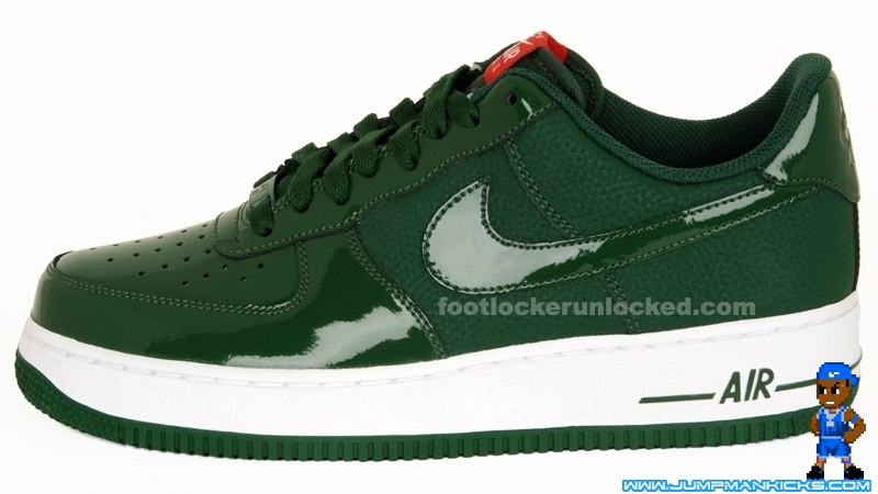 super popular e6a1d ae0d4 green and white jordan air force ones During the Nike ...