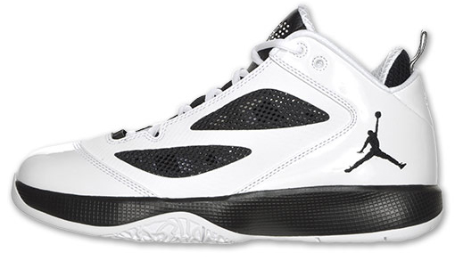 Its white upper has been complemented nicely with black mesh paneling. The  White  Black Air Jordan Q-Flight will release on July 7 60cdf65c5ef3