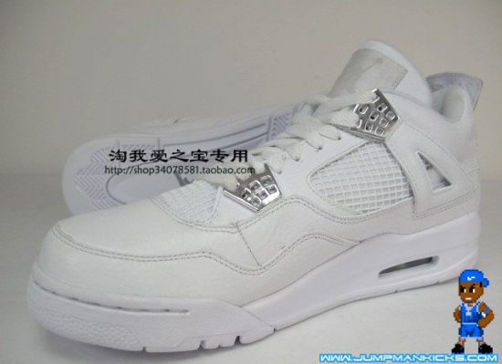 1b209368dffd Air Jordan IV Retro White Metallic Silver 25th Anniversary Pack ...