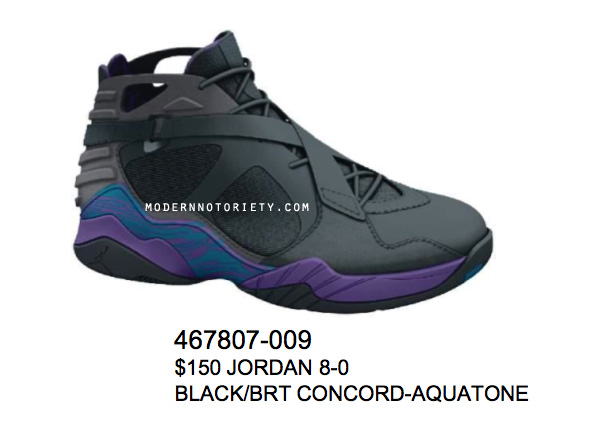 1328d7e928f Air Jordan 8.0 Black/Aqua - Air 23 - Air Jordan Release Dates ...