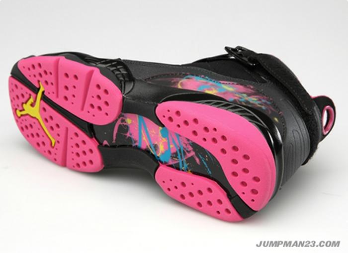 cb0d5e8122a8 Air Jordan 8.0 Girls - Black Desert Pink