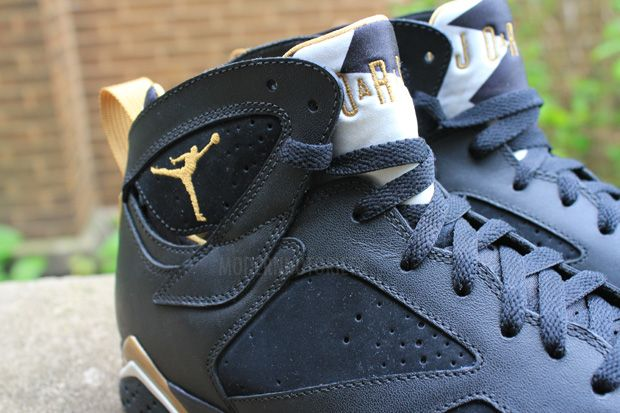 finest selection e5700 86692 Nike Air Jordan 7 Retro Golden Moments Black Metallic Gold White Size 13  (L502)