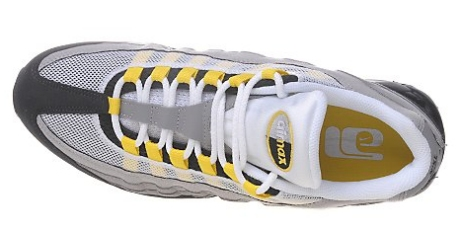 cf3817399d Nike Air Max 95 OG Neon Yellow Volt Charcoal Sz 9 Preowned Excellent VNDS