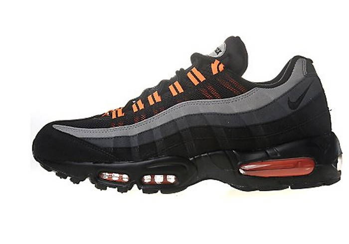 baff408e4b62f2 Nike s gearing up for Halloween with this fresh new Air Max 95 color  scheme. Using nubuck suede
