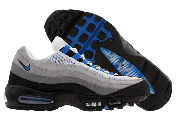 Nike Air Max 95 White And Blue Spark leoncamier.co.uk