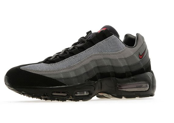 factory price e28a7 349b2 It features a suede and mesh black and grey gradient upper, finished with a  black midsole and red graphics. This pair was created as a JD Sports  exclusive, ...
