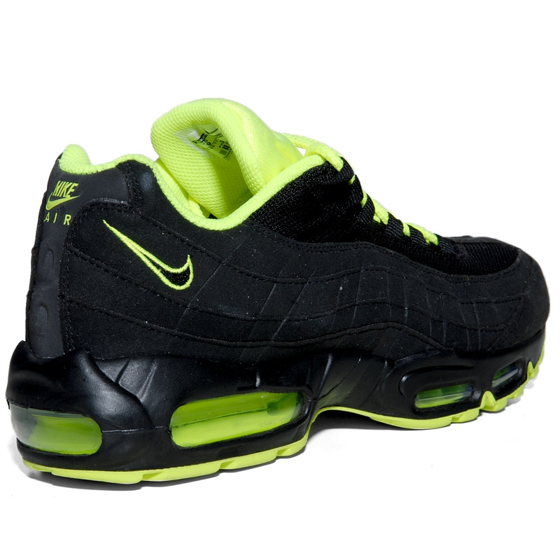 Nike Air Max 95 EM Cool Grey/Volt-Black-White 554971 031 Size 9.5 Men\u0026#39;s