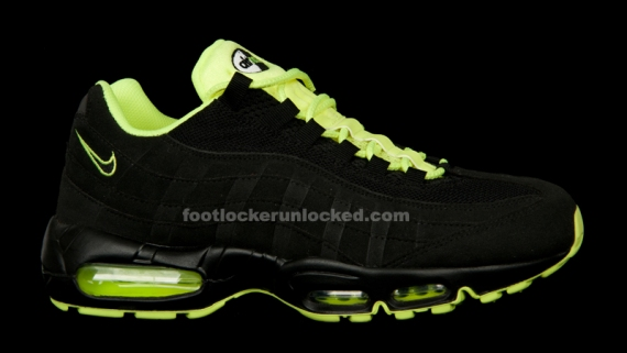 black and lime green air max