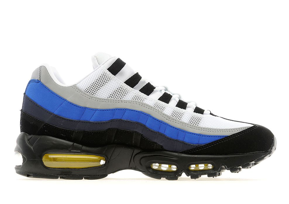 new styles 52fed aa9a5 Nike Air Max 95 - Grey Blue-Yellow